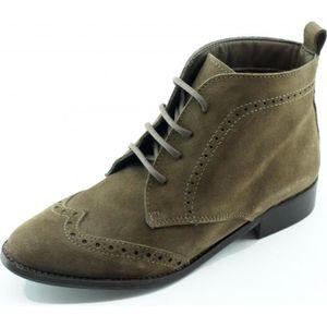 BOTTINE Versailles - Bottine à Lacet talon plat chaussures