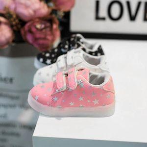 BASKET BOTTE Baskets de mode bébé LED lumineux enfant en