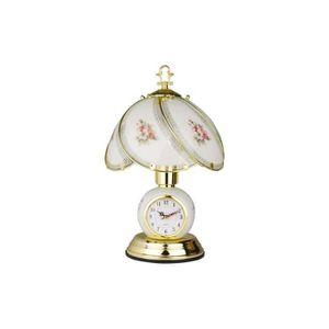 LAMPE A POSER Lampe horloge <<touch>> rétro abat-jour en verre