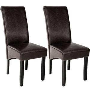 CHAISE 2 Chaises de salle à manger design 105 cm Marron,