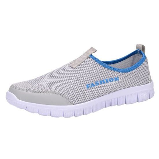 HEE GRAND Homme Chaussure Gris Sportive Slip-on Gris  Gris Chaussure - Achat / Vente basket 85fae1