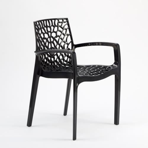 4 Chaises Noires Avec Accoudoirs Pour Bar Restaurant Cuisines