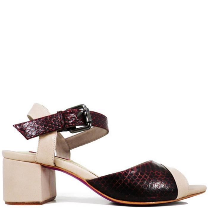 Sandale femme en cuir MALI Violet