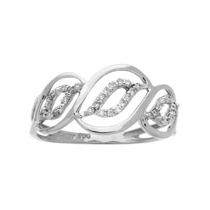 DIAMANTLY Bague diamants 0,12ct or gris 750/1000