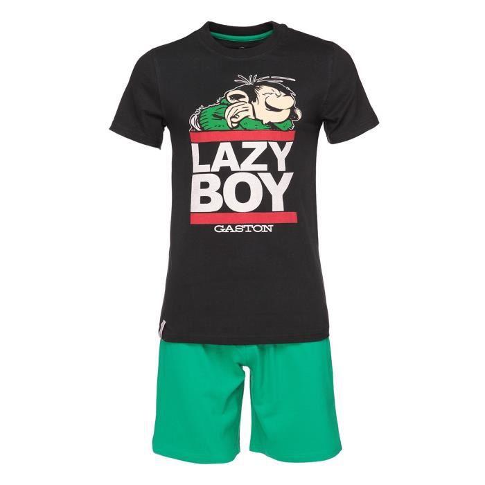 Vert pièces Sérigraphié GASTON Homme Pyjama Court 2 LAGAFFE Noir IqX6Xw0