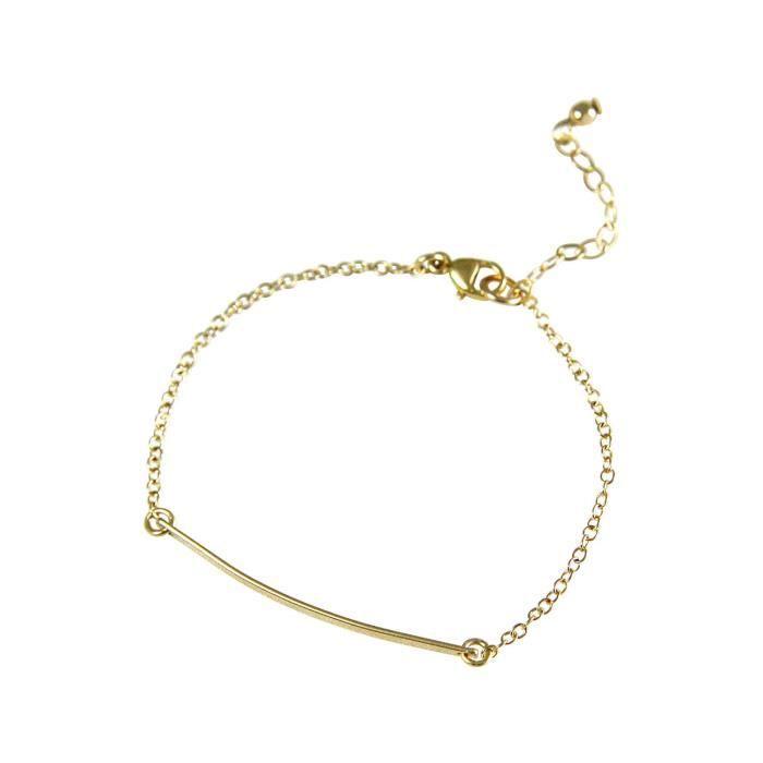 Gemshine - Dames - Bracelet - -Minimalistisch - filigrané géométrique - Design - 925 Argent - Or
