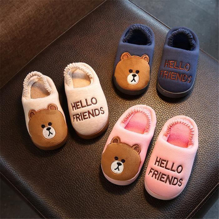 Chaussons Enfant mignonne Pantoufles Hiver Chaud Pantoufle Fantaisie Meilleure Qualité Chaussure De Marque Chaussures Plus