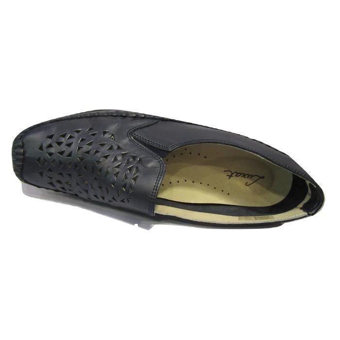 Chaussure confort/pieds sensibles cuir LUXAT cuir marine