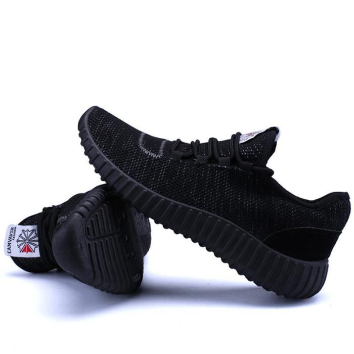 Basket Homme Ultra Léger Chaussures De Sport Durable XX-XZ125Noir42 6Q9WPNFzb