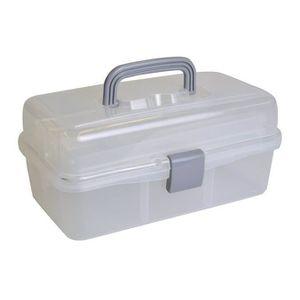 malette de rangement plastique achat vente malette de rangement plastique pas cher cdiscount. Black Bedroom Furniture Sets. Home Design Ideas