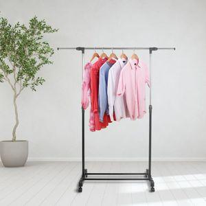PENDERIE MOBILE Portant de vêtement en acier inoxydable réglable a