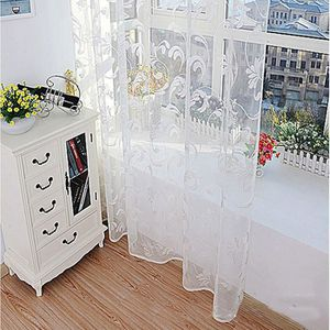 Chambre Rustique mode fleur rideau fil pour chambre rustique sheer taille tulle