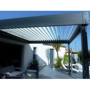 Pergola bioclimatique aluminium lames orientables nao - Pergola aluminium lames orientables ...