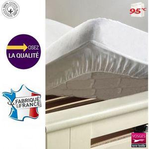 PROTÈGE MATELAS Protège-matelas 90 x 190 cm molleton 100% coton… e6ff5d18278d