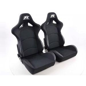 SIÈGES siège baquet Set Control (1xgauche/1xdroit) Noir