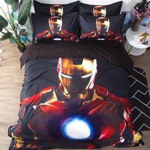 HOUSSE DE COUETTE ET TAIES Iron Man Marvel Parure de Couette 3D Imprime-1 Hou