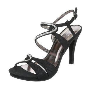 ESCARPIN Femme chaussures sandales Strass occupé High Heels 7100a6c8ced6