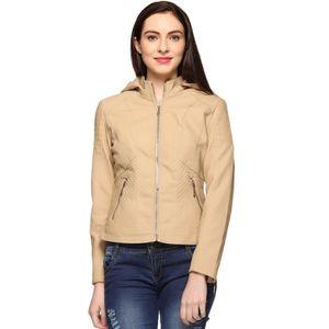 BLOUSON - VESTE Faux Veste en cuir pour femme EWG2M Taille-38
