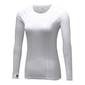 bd7f2dc7bf9 T-SHIRT MAILLOT DE SPORT T-Shirt Femme de Sport Thermique Polaire Chaud Man
