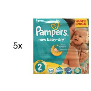500 Couches Pampers New Baby Dry Taille 2 Achat Vente Couche
