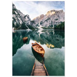 TABLEAU - TOILE Panorama® Tableau Lac de Braies Italie 50 x 35 cm