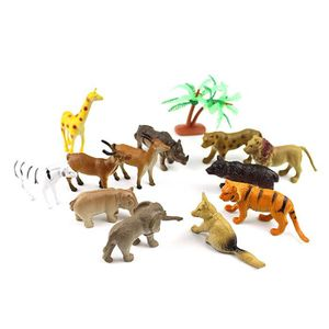FIGURINE - PERSONNAGE 2Pcs Plastic Simulated Animal Micro décoration de