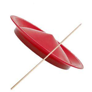 ASSIETTE CHINOISE Assiette de jonglerie avec un bâton de 50 cm-Rouge