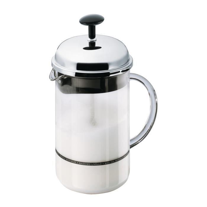 BODUM CHAMBORD Fouet à lait manuel grande mesure verre 0,25L gris