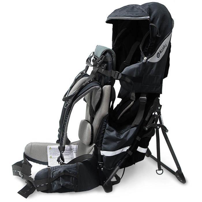 KIDDY Porte-bébé de randonnée Adventure Pack 2017 Noir Onyx