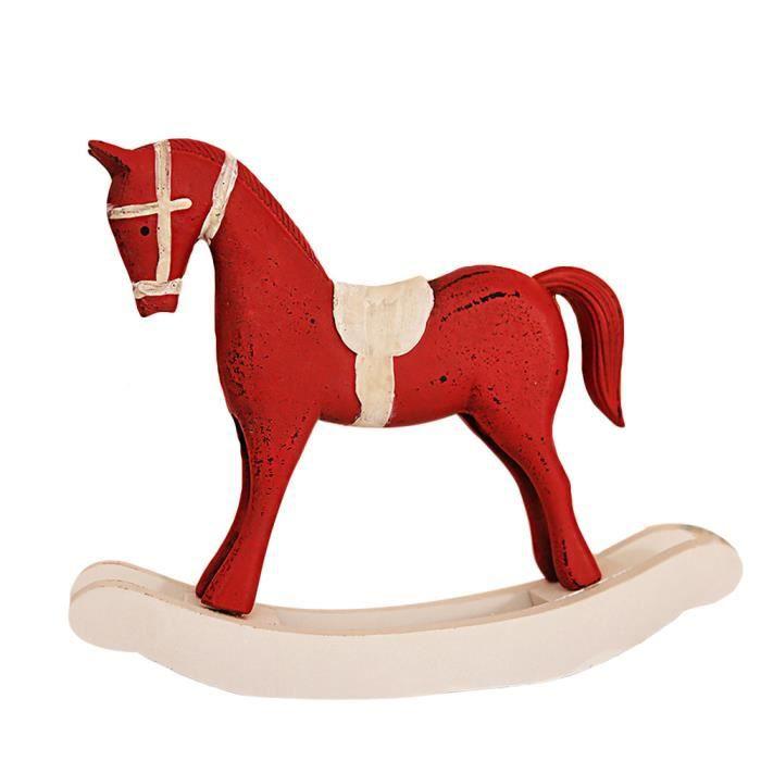 Grand Ornement de Noël traditionnel cheval