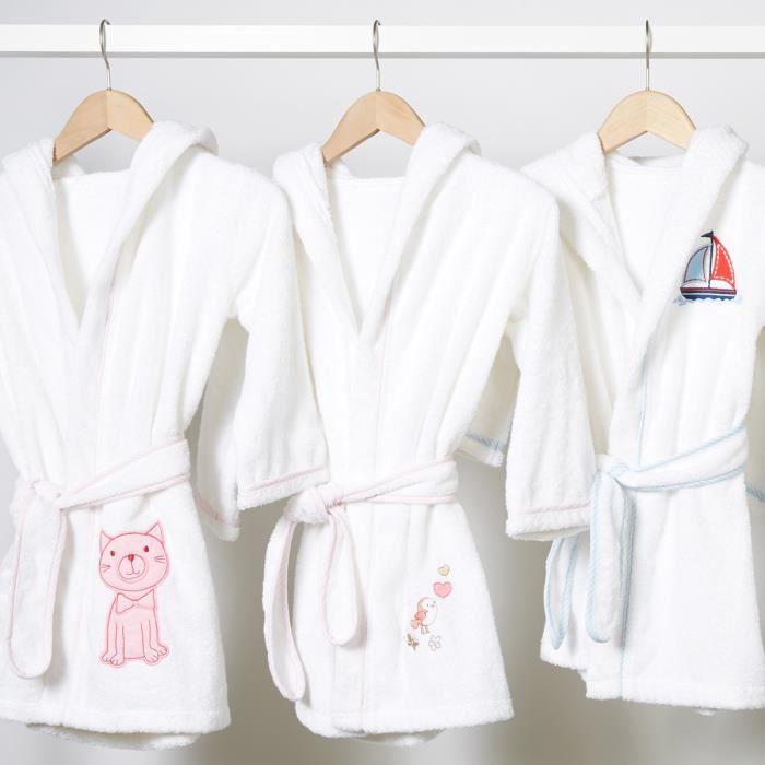 39e3ce90fe860 Peignoir de bain enfant à capuche motif Oiseau - Achat / Vente ...