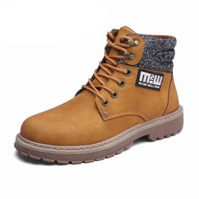 bottines hommes Martin bottes PU cuir lacer imperméable garder les bottes chaudes 4Lc5gPLhB