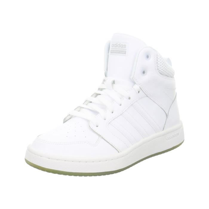Cf Superhoops Mid Chaussure Femme ADIDAS BLANC pas cher