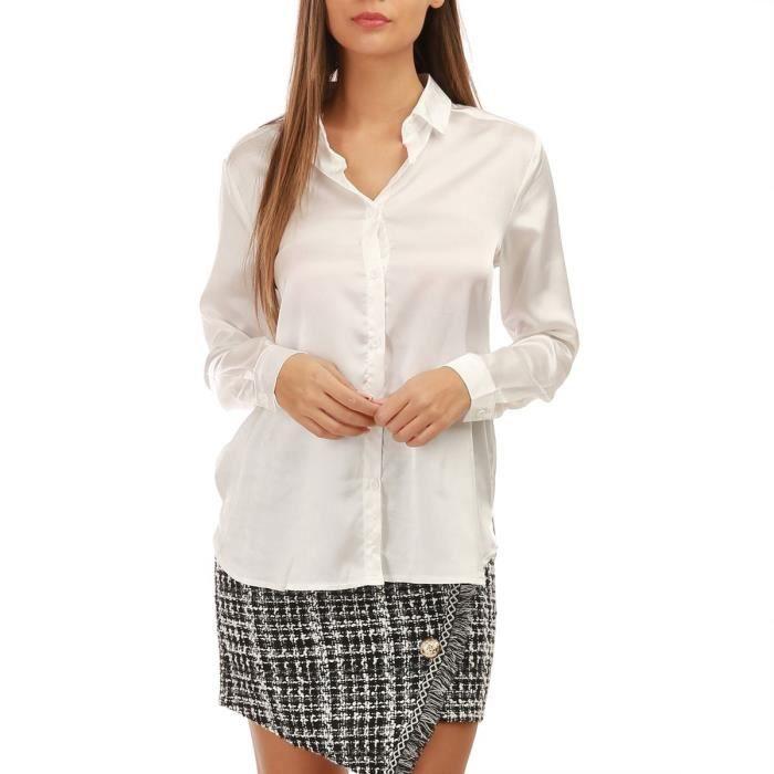 Chemise blanche femme manche longue - Achat   Vente pas cher c6f2ec000f5