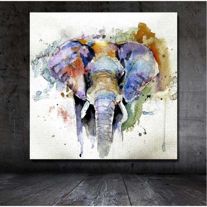 Préférence PIPIHUA® Grande Taille Éléphant Art Peinture Sur Toile Moderne  HE49