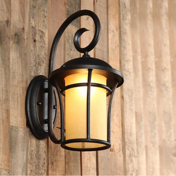 20cm×38cm Applique Metal Rétro Mur Industrielle Murale Lampe Éclairage Vintage Feu De Stoex® Fer cJKT1lF