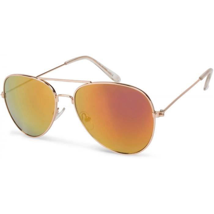 lunettes pilote pour enfants avec structure métallique en acier fin, lunettes de soleil 09020059