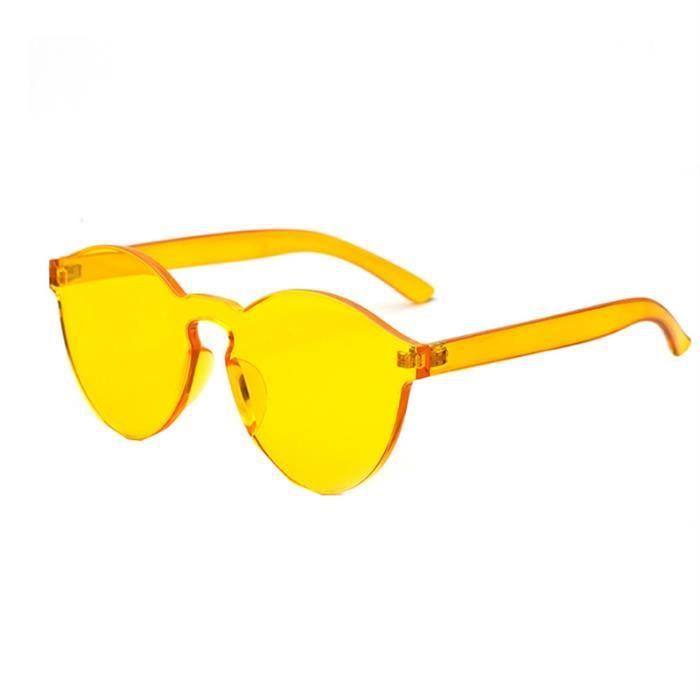 et bonbons pour Lunettes hommes de soleil Transparent Jaune Couleur femmes 8qIIZFEwx