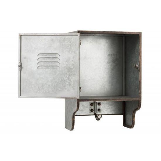 Armoire pharmacie vintage 1 porte en métal gris antique - Achat ...