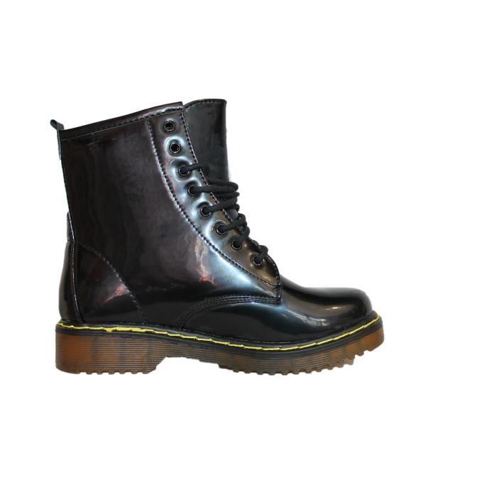 boots doc noire brillante