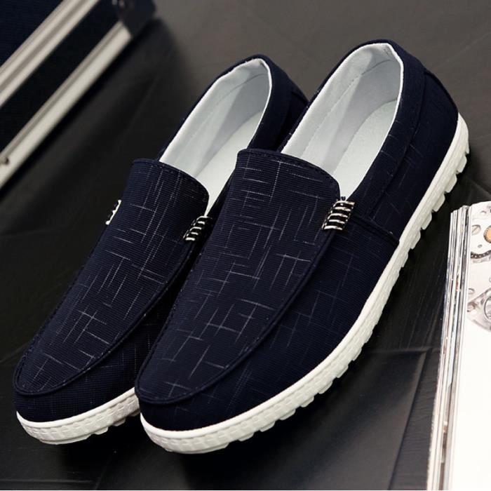 Respirant Soles Mocassins Chaussures de hommes hommes doux toile Les Les doux qfxS16