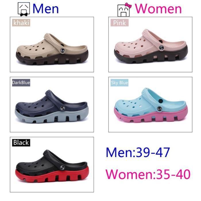 Chaussons pour Mixtenoir 45 Les et les Summer Beach Sandales Chaussures creux Voyage en plein air amoureux de loisirs _46762