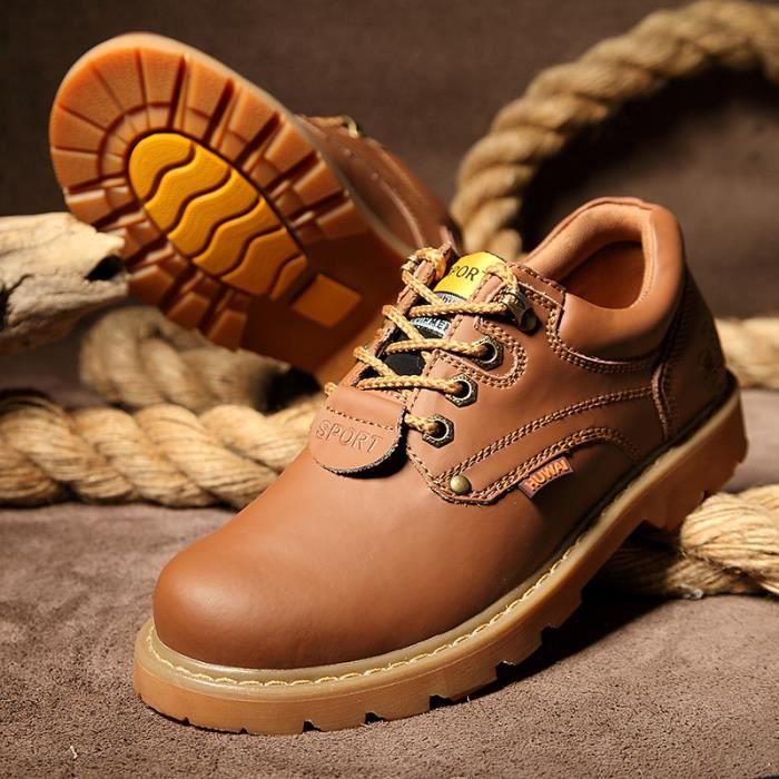 JOZSI Chaussures Homme Cuir Confortable mode Homme chaussure de ville HZ-XZ209Noir38 z5sm04Nhx