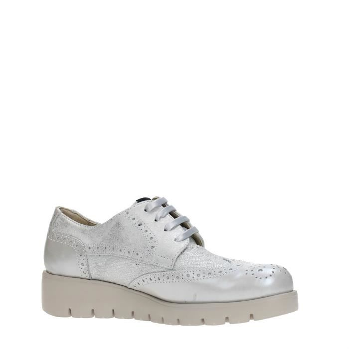 CallagHan Chaussures à Lacets Femme GREY/SILVER, 37