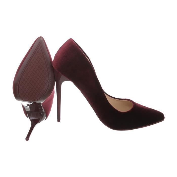 Rzfrqxu Noir Talons Aiguilles Femme 36 Chaussures L'escarpin Bordeaux Nnvw0m8