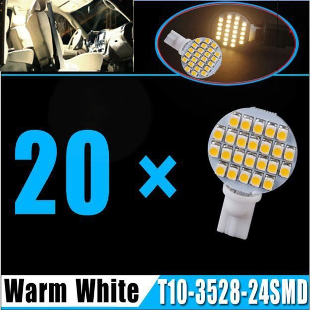 Rv 12v T10 Led Super 6000k 849blanc Wedge 8w Blanche 4 20x Blanc Ampoule 921 Lumineux 24smd Voiture x4F6Iwz