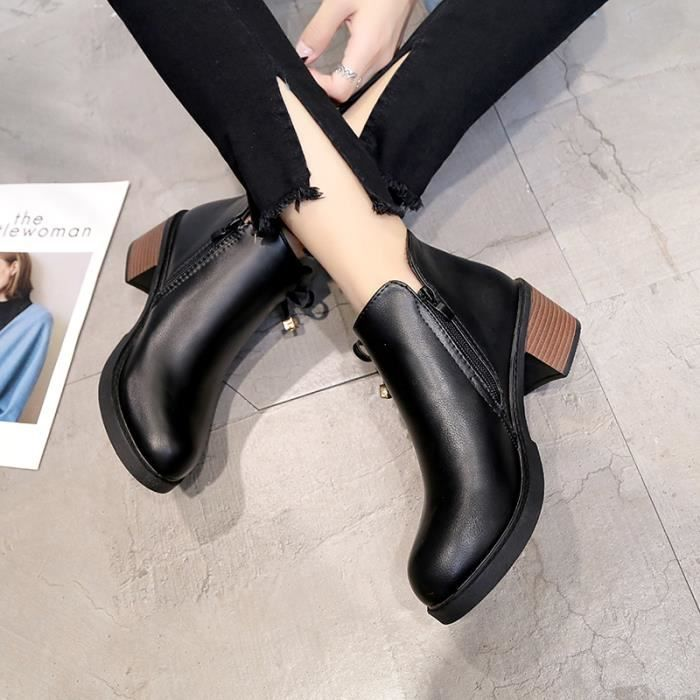 Femme Ankle Boot Profonde Mince Chic Tempérament Séduisante élégante Loisirs Young Simple Haute Qualité Individualité Aimable 5RpafLiIF