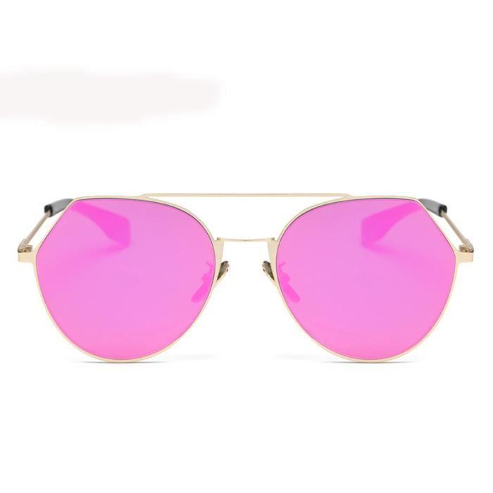 Femmes Hommes Vintage Retro Lunettes Mode Unisexe Aviator Lunettes de soleil miroir lentilleviolet-LJL70309138PP_1234