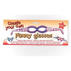 MASQUE - DÉCOR VISAGE Lot 10 paire de lunette en carton a decorer Deguis