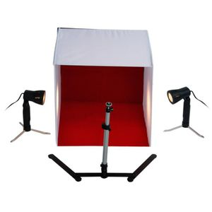 KIT STUDIO PHOTO Mini Studio Photo Portable (Cube-Tente) Lumière Te